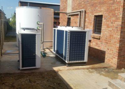 Vaal University Res - heat pump and fiber glass water tank