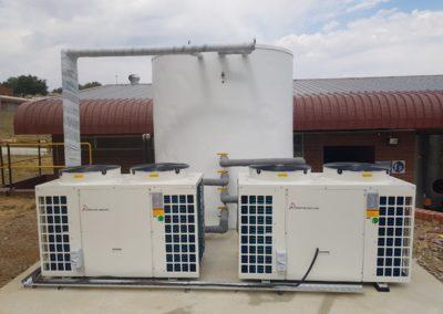 Mining Change House - Heat Pump - water tank